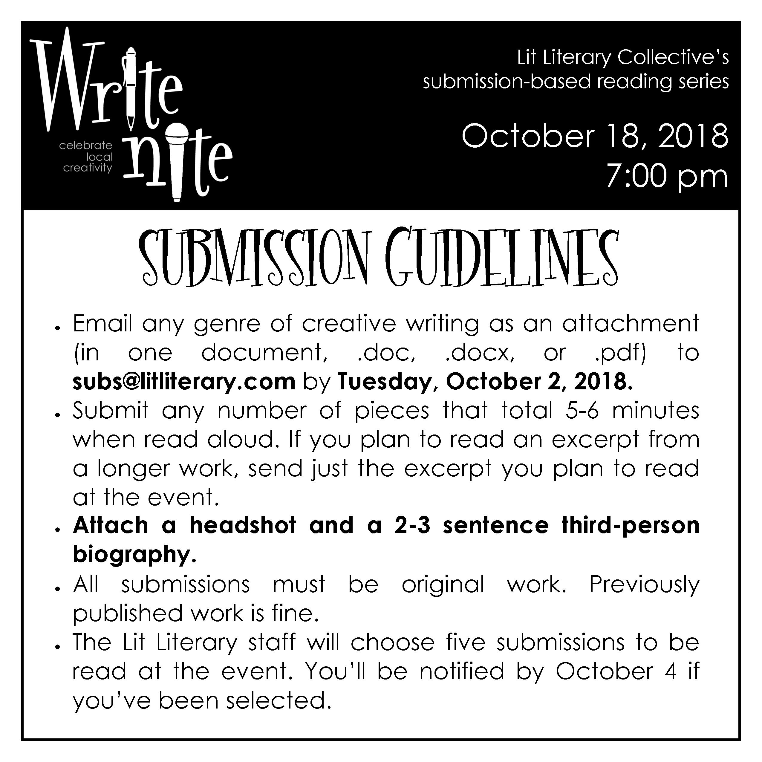 Submission Guidelines 10-18-18